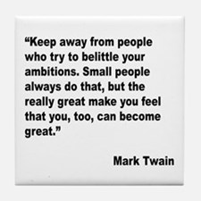Mark Twain Great People Quote Tile Coaster