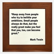 Mark Twain Great People Quote Framed Tile
