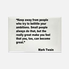Mark Twain Great People Quote Rectangle Magnet