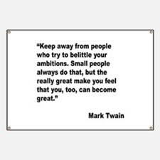 Mark Twain Great People Quote Banner