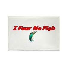 I Fear No Fish Rectangle Magnet
