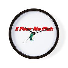 I Fear No Fish Wall Clock