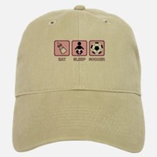 EAT SLEEP SOCCER (baby pink) Baseball Baseball Cap