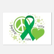 CP Peace Love Cure Postcards (Package of 8)