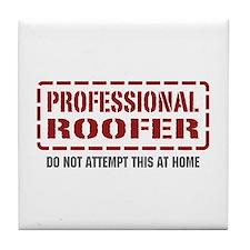 Professional Roofer Tile Coaster