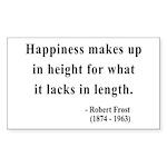 Robert Frost 4 Rectangle Sticker