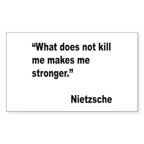 Nietzsche Stronger Quote Rectangle Sticker