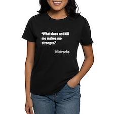 Nietzsche Stronger Quote (Front) Tee
