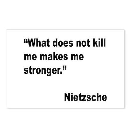 Nietzsche Stronger Quote Postcards (Package of 8)