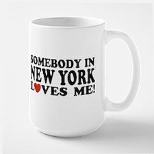 Somebody in New York Loves Me! Large Mug