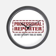 Professional Reporter Wall Clock