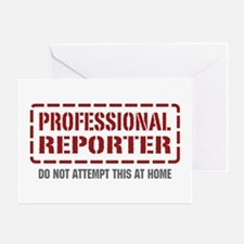 Professional Reporter Greeting Card