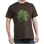 Irish Shamrock Spiral T-Shirt in Dark Colors