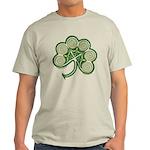 Irish Shamrock Spiral T-shirt - Wht/Gry/Blu