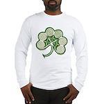 Irish Shamrock Spiral Long Sleeve T-Shirt