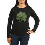 Irish Shamrock Women's Long Sleeve Dark T-Shirt
