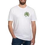 Irish Shamrock Spiral front/back Fitted T-Shirt