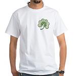Irish Shamrock Spiral Front/Back White T-Shirt