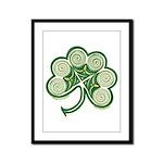 Irish Shamrock Spiral Design Framed Panel Print