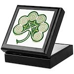 Irish Shamrock Spiral Design Keepsake Box