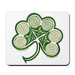Irish Shamrock Spiral Design Mousepad