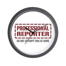 Professional Reporter Wall Clock