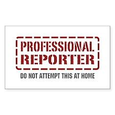 Professional Reporter Rectangle Sticker 50 pk)
