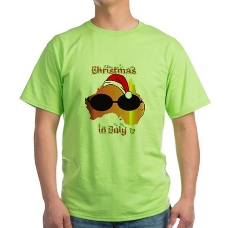 Christmas in July Green T-Shirt