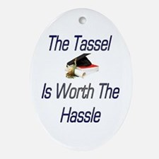 Tassel worth Hassel Oval Ornament