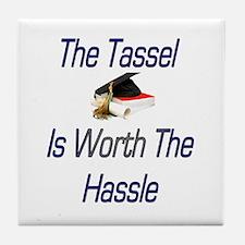 Tassel Worth Hassel Tile Coaster