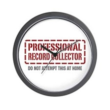 Professional Record Collector Wall Clock