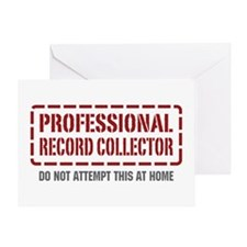 Professional Record Collector Greeting Card