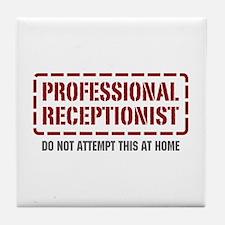 Professional Receptionist Tile Coaster