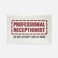 Professional Receptionist Rectangle Magnet