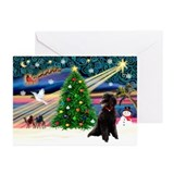 Black poodle Greeting Cards (10 Pack)