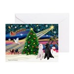 XmasMagic/2 Poodles (ST) Greeting Cards (Pk of 20)