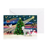 XmasMagic/Poodle (ST-W) Greeting Card
