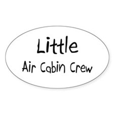 Little Air Cabin Crew Oval Decal