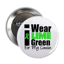"Lymphoma: I Wear Lime Green 2.25"" Button"