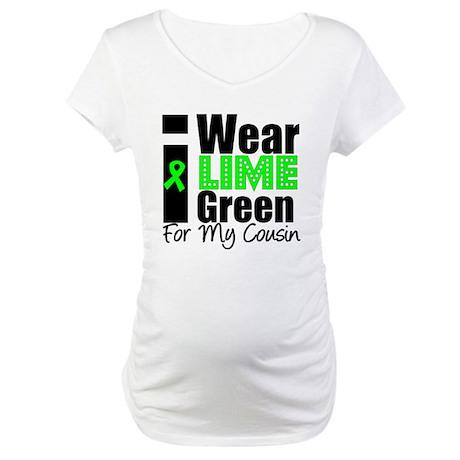 Lymphoma: I Wear Lime Green Maternity T-Shirt