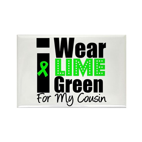 Lymphoma: I Wear Lime Green Rectangle Magnet