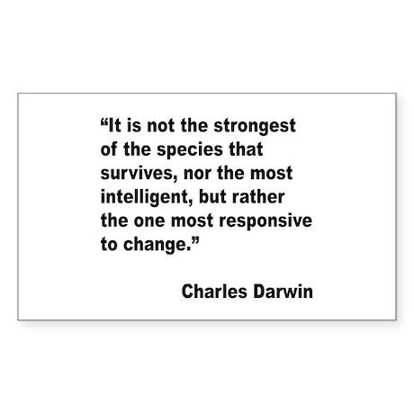 Darwin Survival Quote Rectangle Sticker