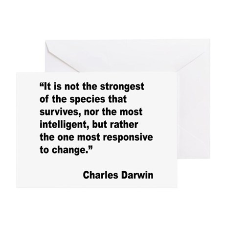 Darwin Survival Quote Greeting Card