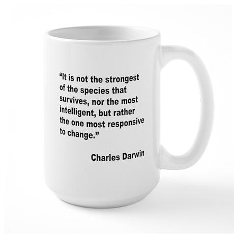 Darwin Survival Quote Large Mug