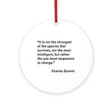 Darwin Survival Quote Ornament (Round)