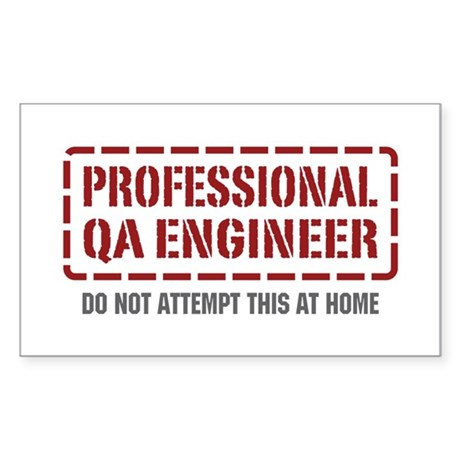 Professional QA Engineer Rectangle Sticker
