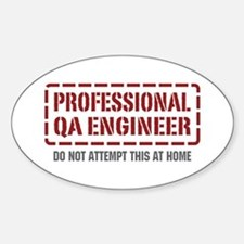 Professional QA Engineer Oval Decal