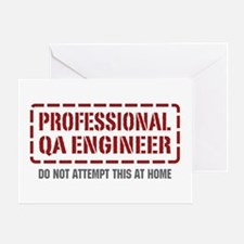 Professional QA Engineer Greeting Card