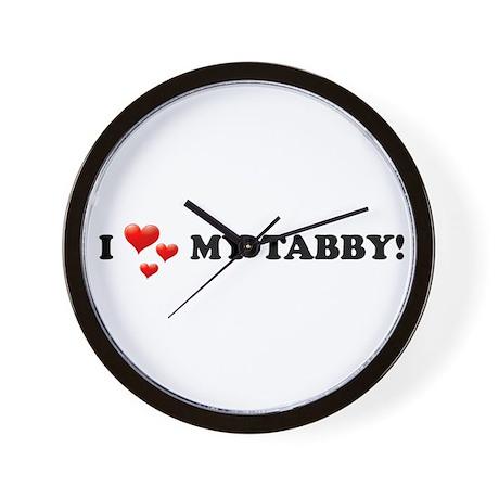 I Love My Tabby Wall Clock