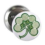 """Irish Shamrock Spiral Design 2.25"""" Button"""